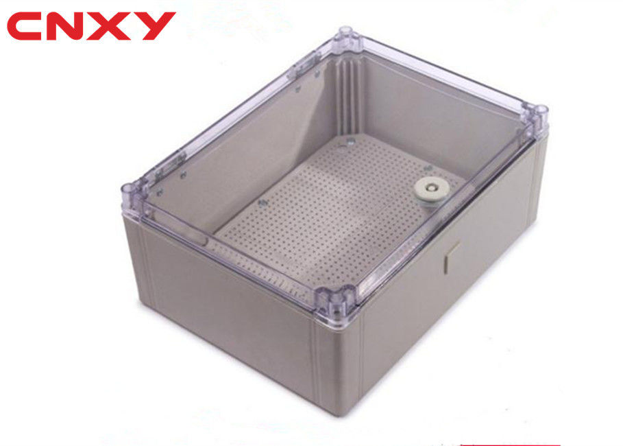 High Insulation Rigid Clear Hinged Plastic Boxes For Fire Control Devices